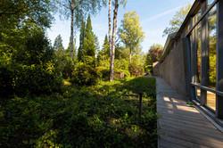 Groene tuin met veel privacy