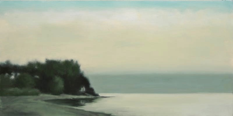 "Dusk, Lake Michigan 24 x 48""oil on canvas"