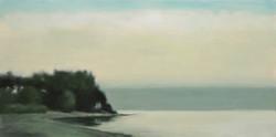 "Dusk, Lake Michigan 24 x 48""oil on canvas"