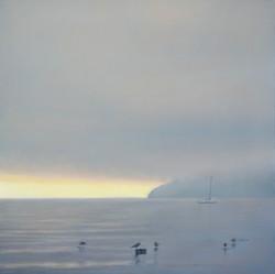 """Nautical Dawn 30 x 30"""" oil on canvas"""
