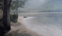 """In The Open Afternoon  36 x 60"""" oil"""