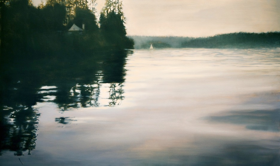 Evening, Quartermaster Harbor 36 x 60