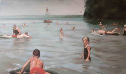 """The Bathers 36 x 60"""" oil on canvas"""