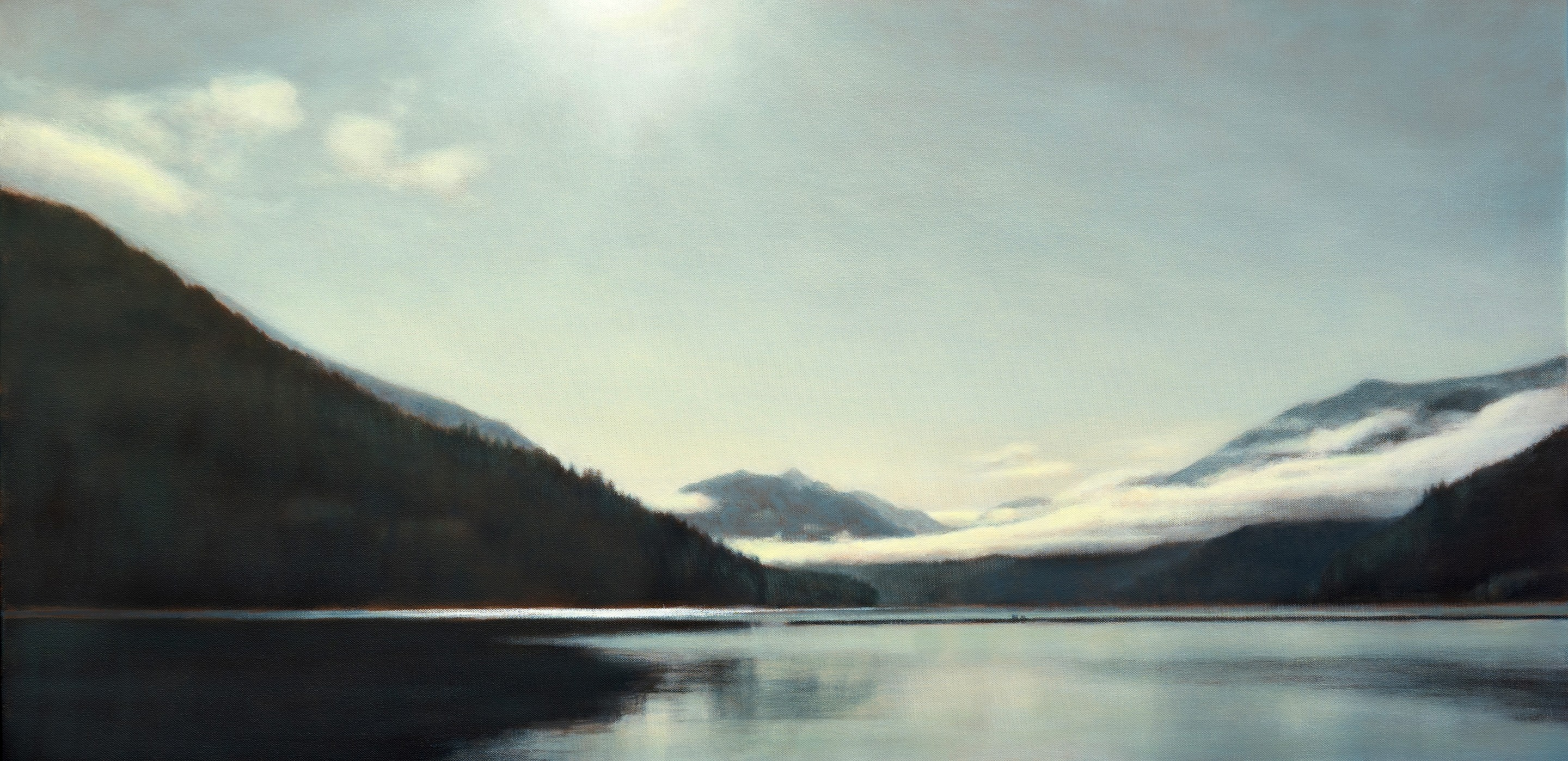 "Glacial Interplay 24 x 48""oil on canvas"