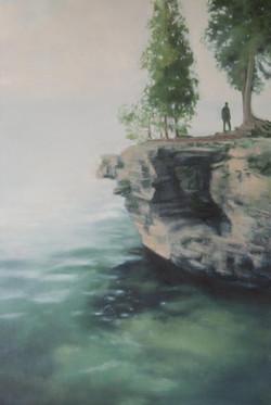 "Limestone Cliff 36 x 24"" oil"