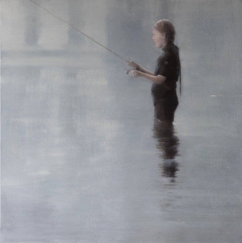 """Fishergirl 40 x 30""""oil on canvas"""