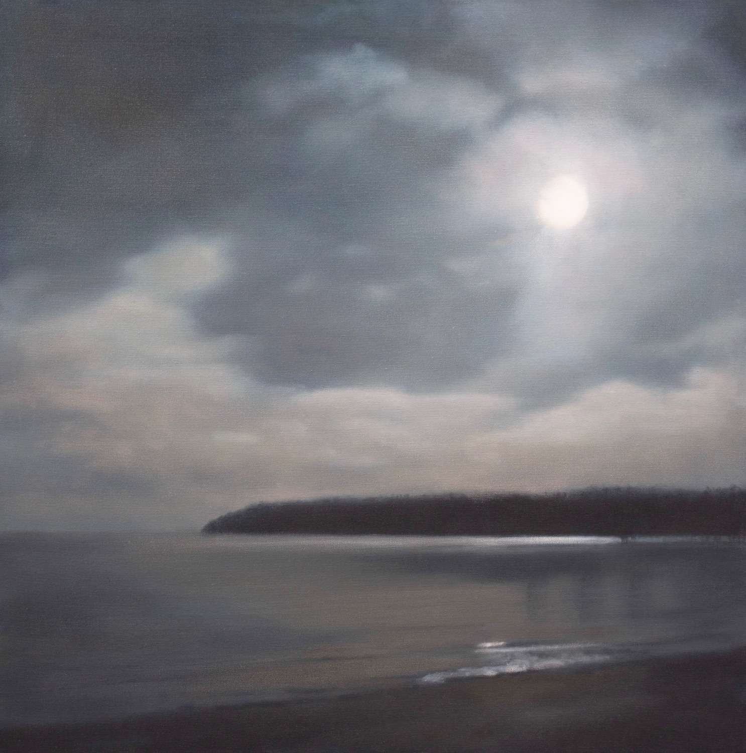 "Moon Over Ellison Bay 30 x 30""oil"