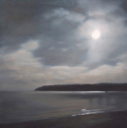"Moon Over Ellison Bay 30 x 30""oil"