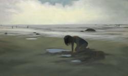 "Treasure Girl 36 x 60"" oil on canvas"