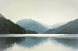 """Temples of Northern Light 40 x 60""""oil"""