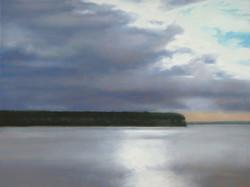 "Ellison Bay  24 x 48"" oil"