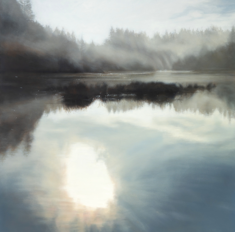 "Fisher Pond, Meditation 48 x 48"" oil"