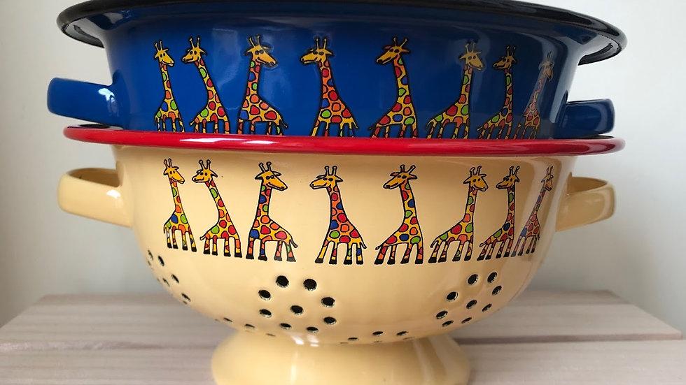 Enamel colander - Giraffe