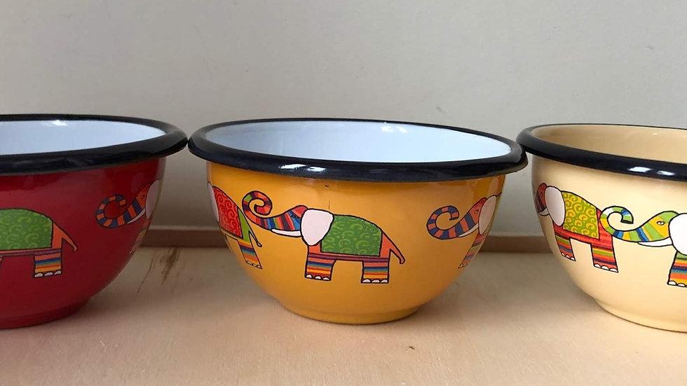 Small enamel bowl - Elephant