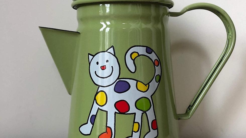 Enamel coffee pot - Cat