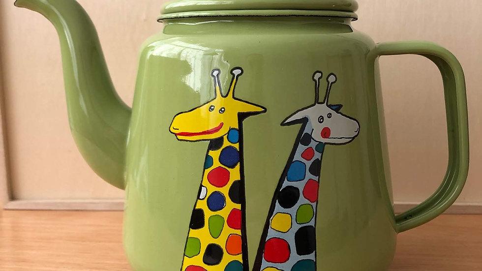 Enamel Tea Pot - Giraffe