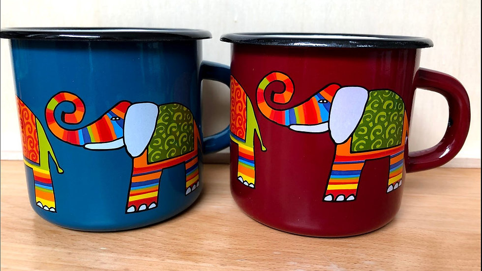 Enamel Mug, 350 ml capacity, Elephant