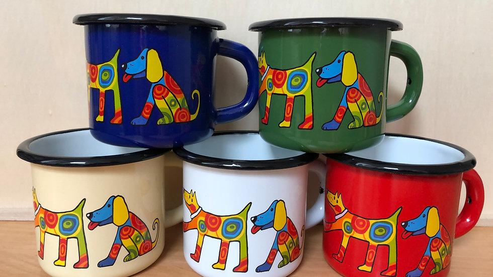 Enamel Mug, 250 ml capacity, Dog