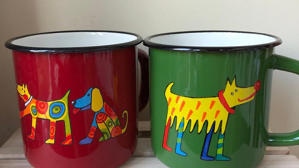 Enamel Mug - Dog 1 litre
