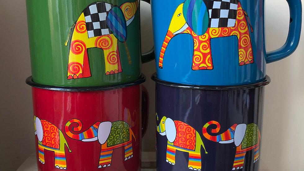 Enamel Mug - Elephant 1 litre
