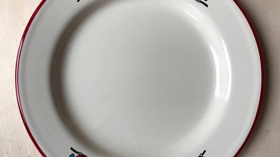 Enamel plate - Owl