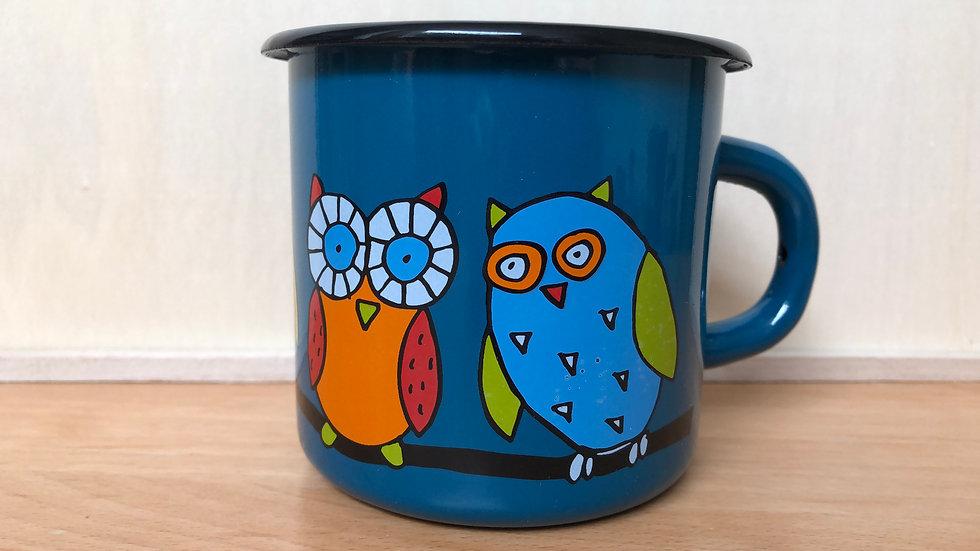 Enamel Mug 8cm diameter Owl