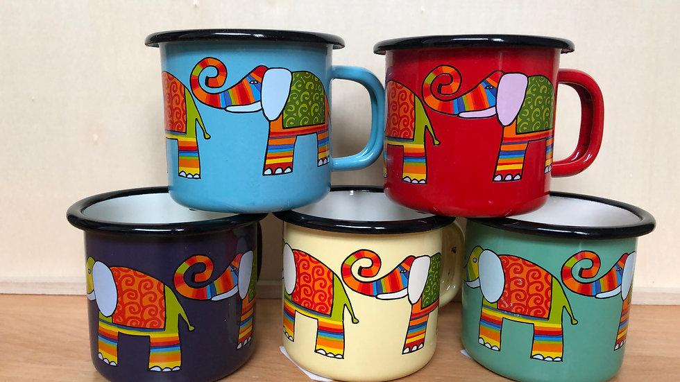Enamel Mug, 160 ml capacity, Elephant