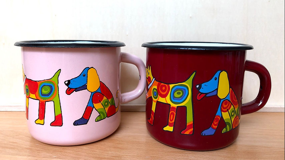 Enamel Mug 8cm diameter Dog