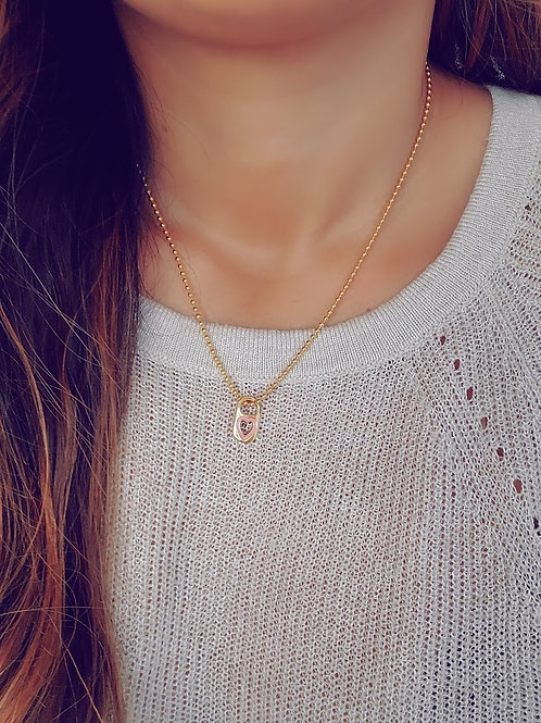 Pink Soda Pop Necklace