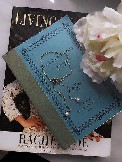 Petite Pearl Lariat Bracelet