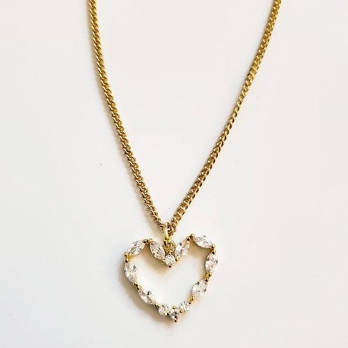 Cubic Heart Pendant Necklace