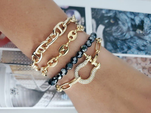 Pave Shackle Bracelet