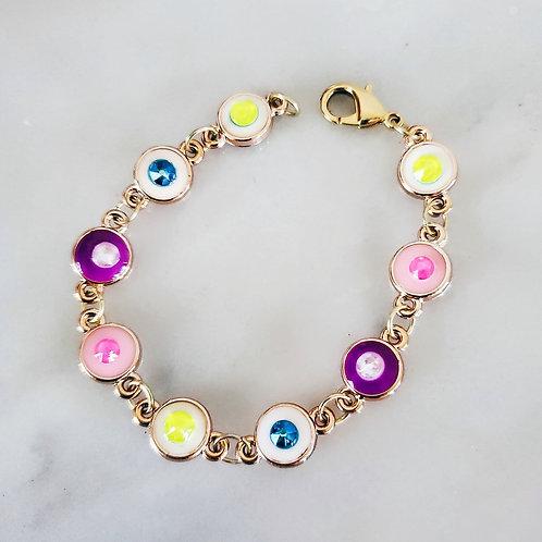 Swarovski Acrylic Evil Eye Bracelet