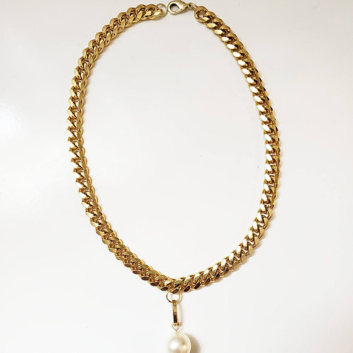 Golden Pearl drop Choker