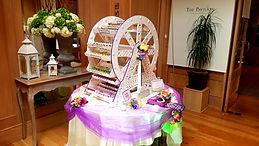 wedding candy table cork