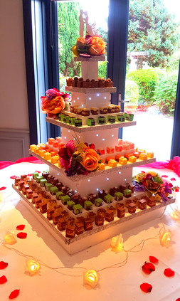 wedding cork cake tower
