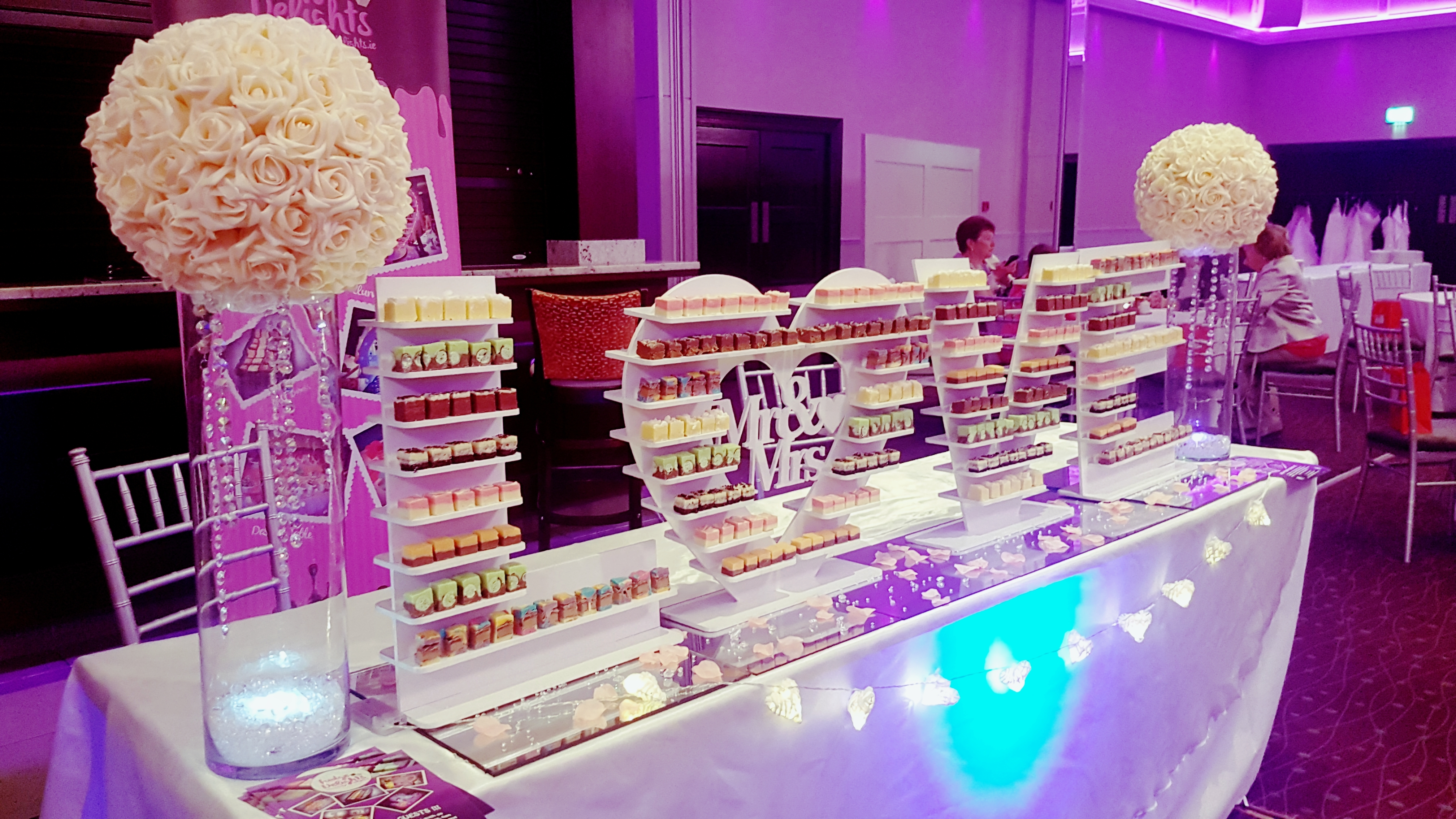 cork wedding candy table