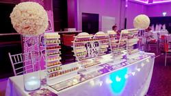cork wedding candy table
