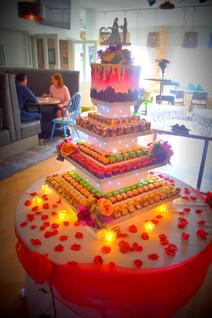 wedding cake chocolate cork
