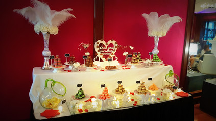 weddings cork dessert table