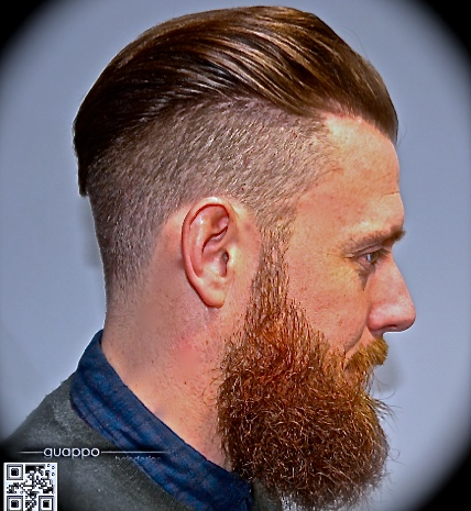fade with beard by phil