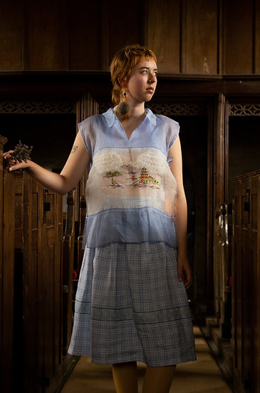Silk Tulle Tablecloth Shirt
