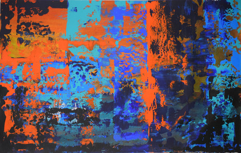 Orange and Blue 70cm(h) x 44cm(w)