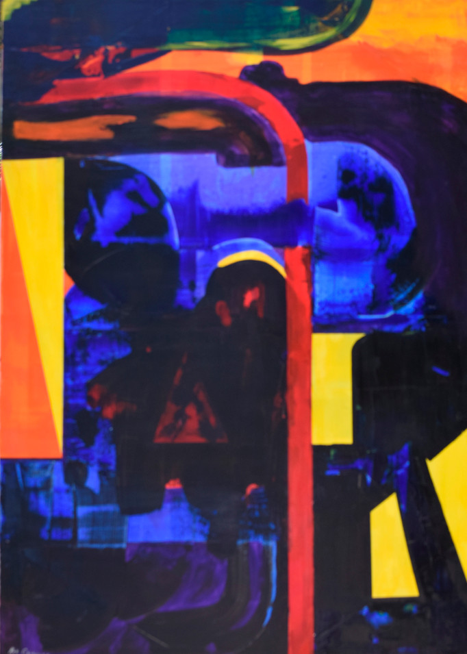 Blue 120cm(h) x 85cm(w)