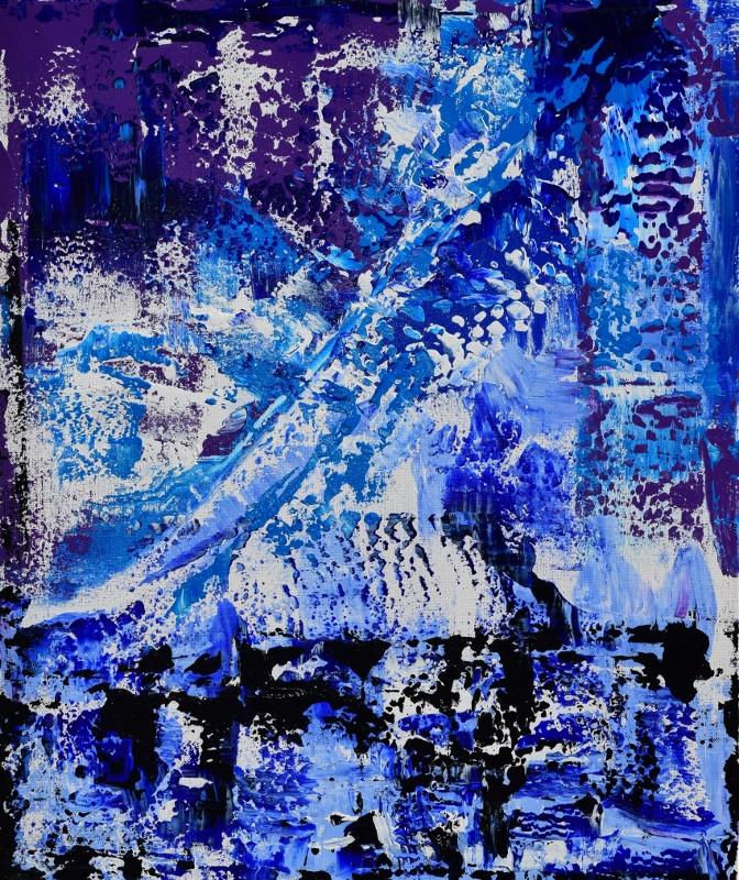 Blue Waves 60cm(h) x 50cm(w)