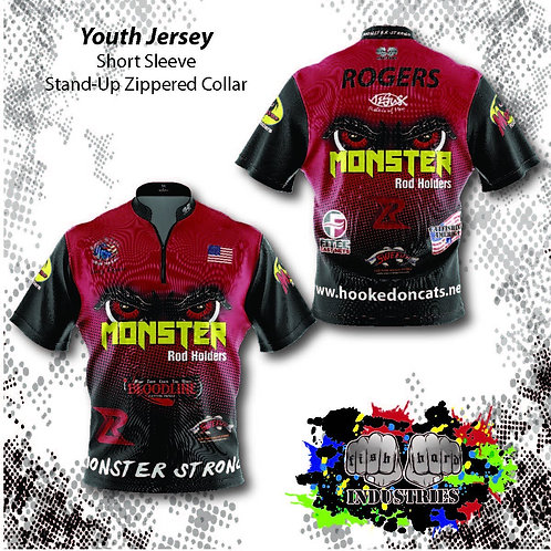Youth-Stock Background Jersey (Short Sleeve) YS-YXL