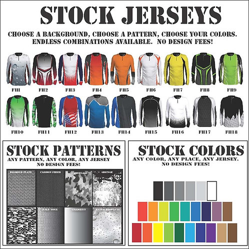 Womens-Stock Background Jerseys (Long  Sleeve) S-3X