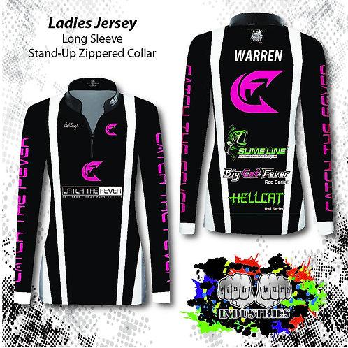 Womens-Stock Background Jerseys (Long  Sleeve) S-3X