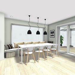 Sitzfenster am Esstisch, Baubegleitung