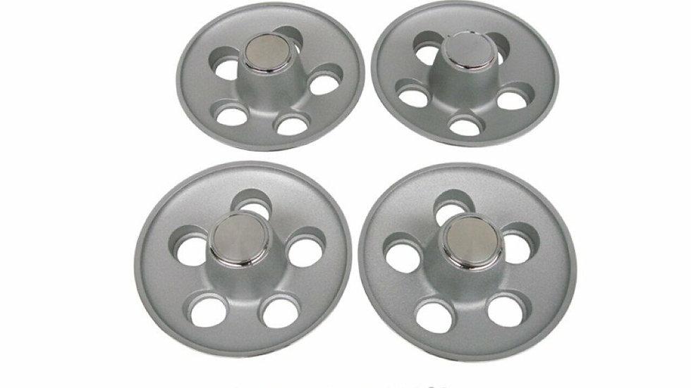 Ensemble de 4 centres de roues Mopar 1970 B, E Body5 X 4 1/2
